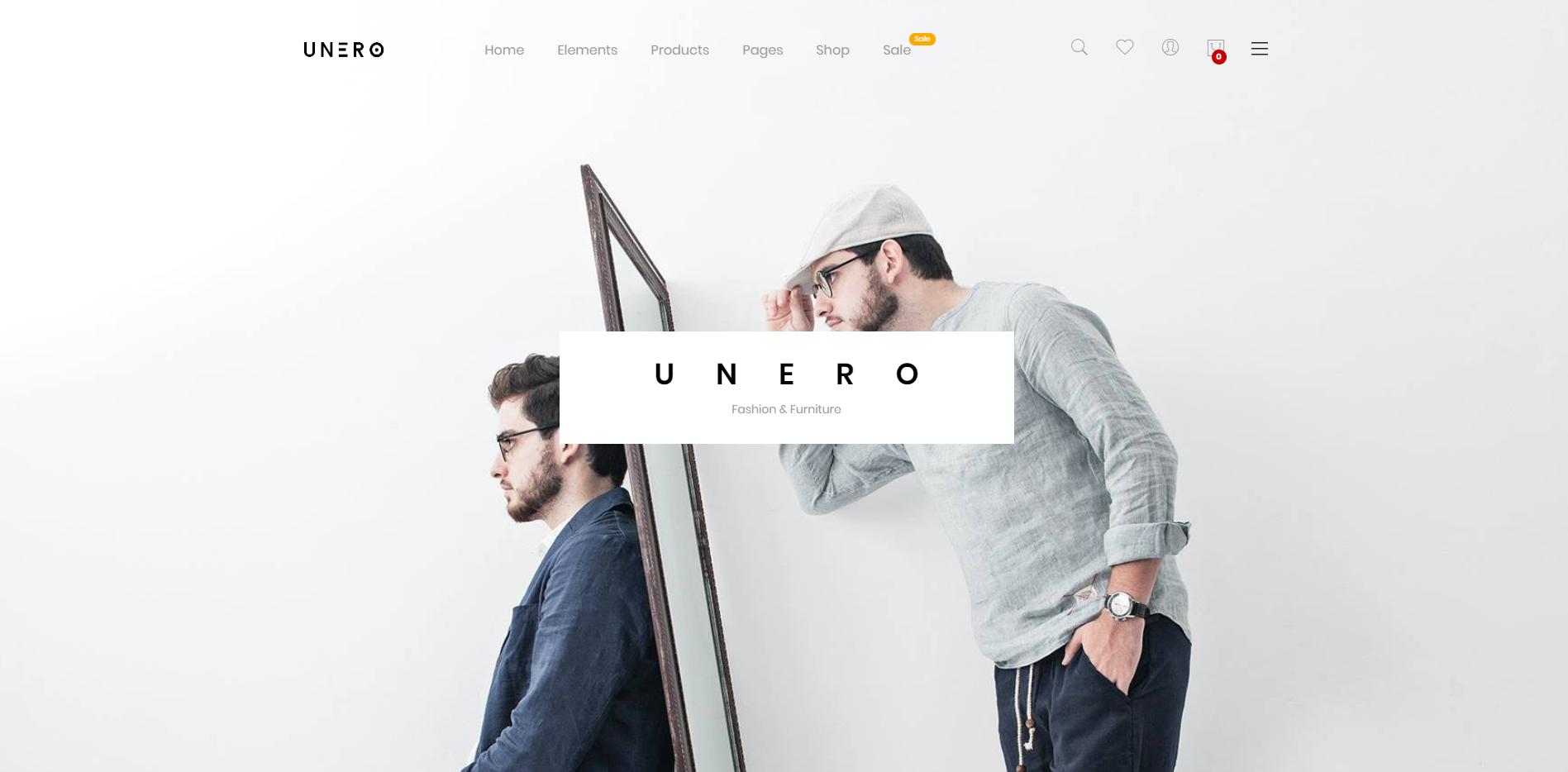 unero theme homepage