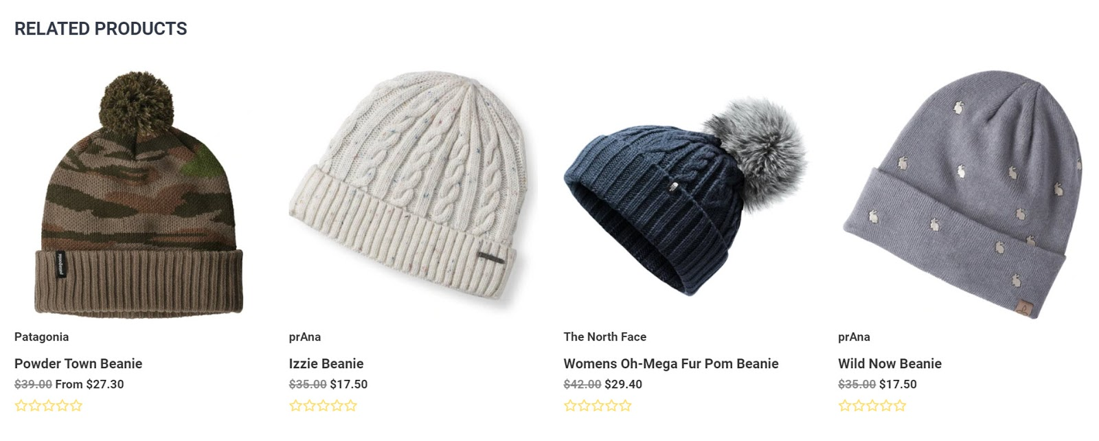 related products that feature images of beanies in different colors