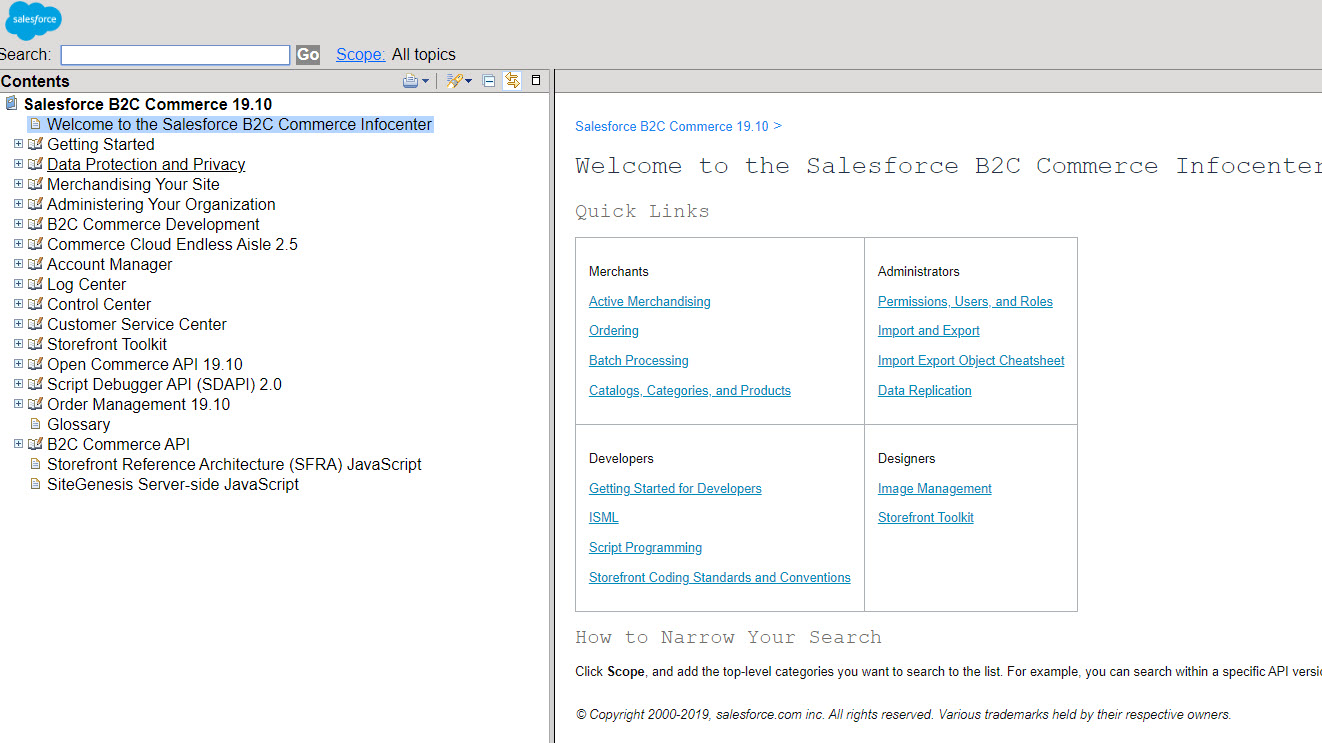 Salesforce B2c Commerce Infocenter