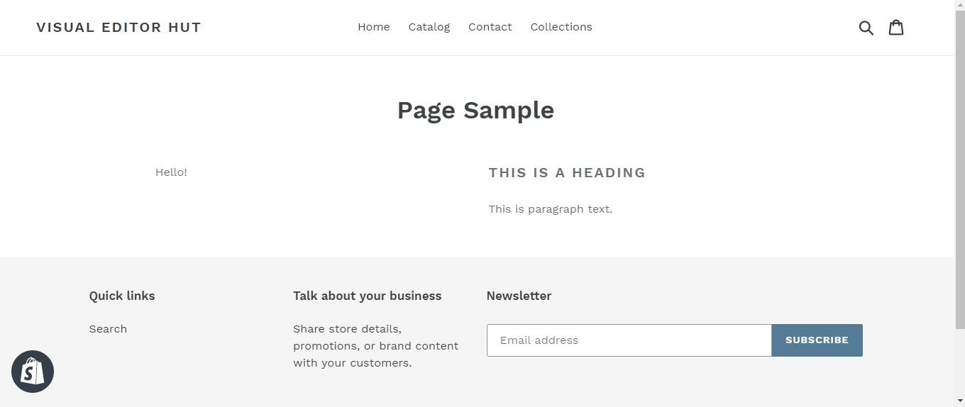 After you save your changes, your new layout will be published