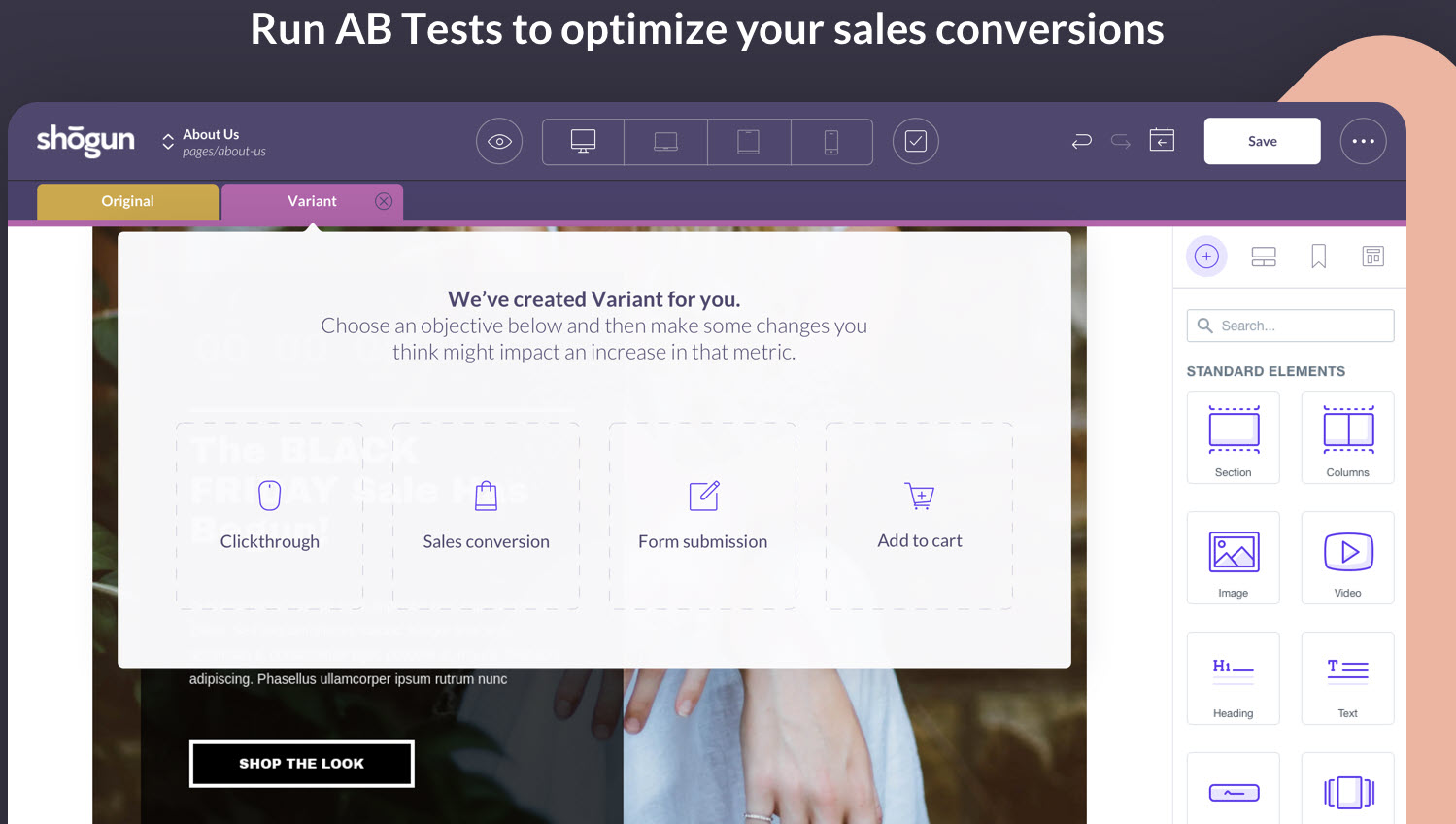 a/b tests - Shopify Headless Commerce