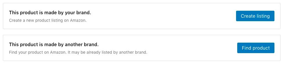 Create Amazon listings