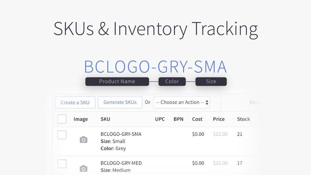 SKU tracking
