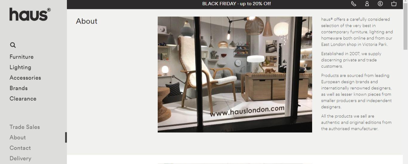 Haus homepage