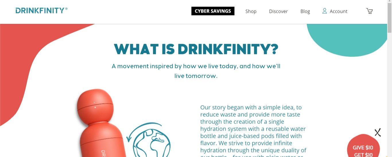 Drinkfinity homepage