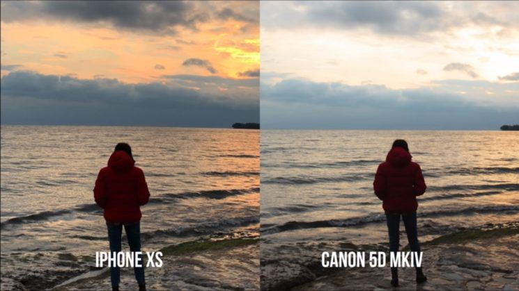example of smartphone video quality: iphone xs versus canon 5d mkiv