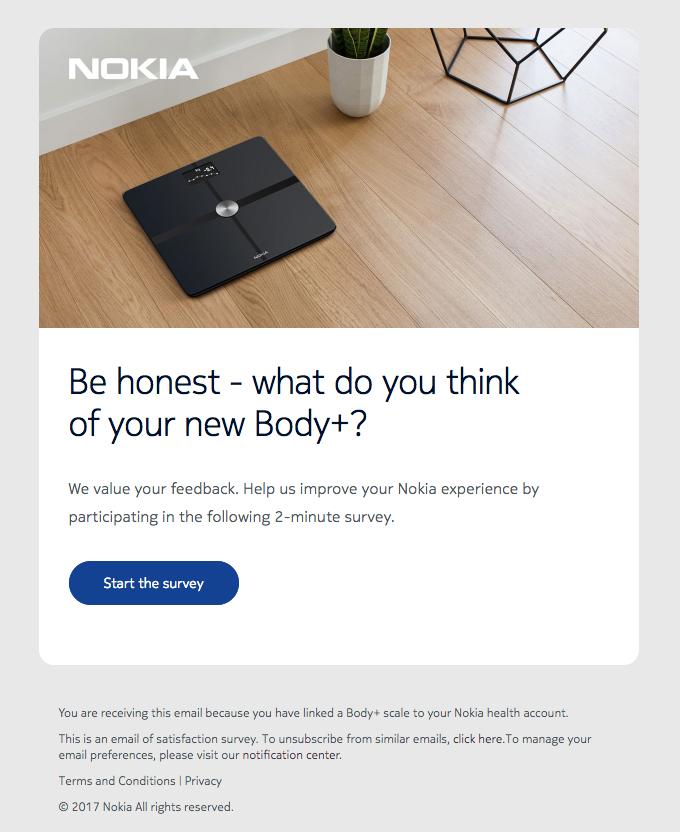 nokia email survey