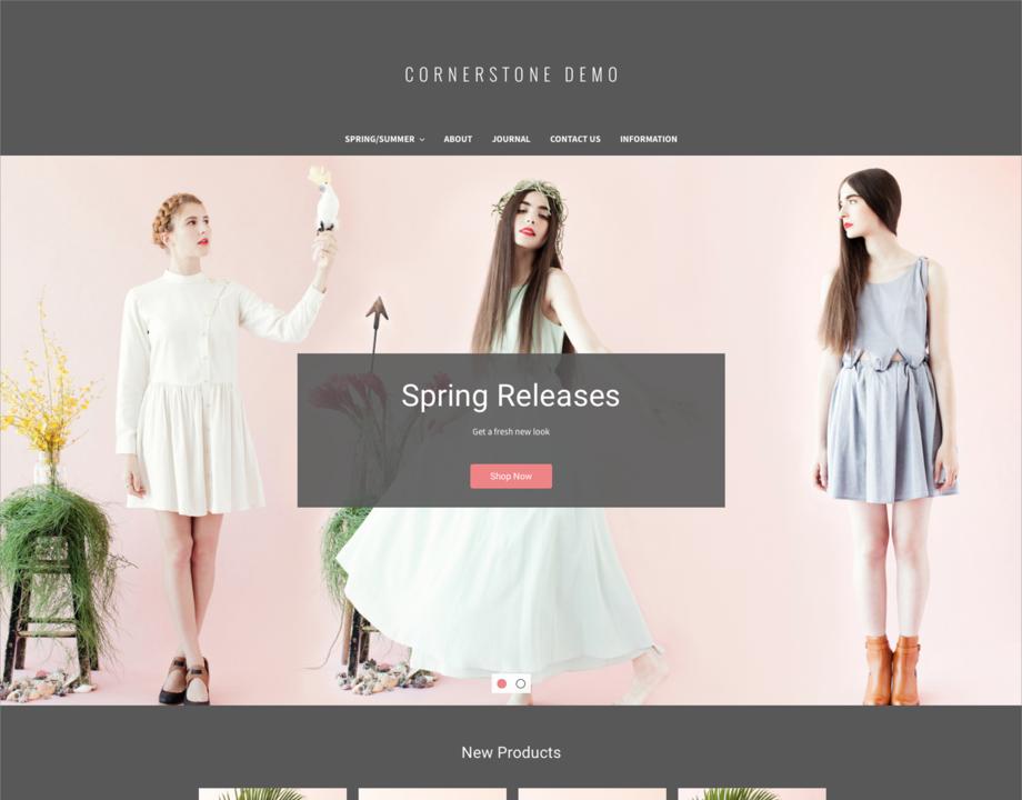 Cornerstone Bold BigCommerce theme