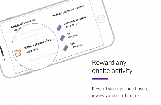 a screenshot of the LoyaltyLion rewards page