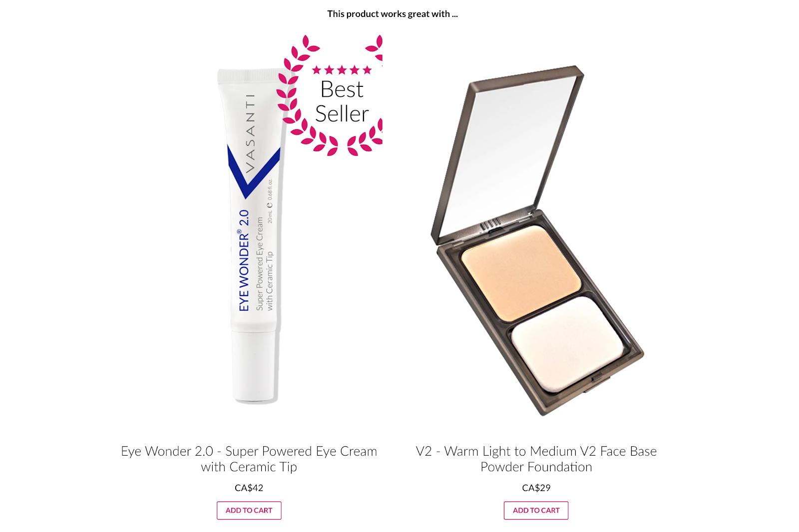 eye cream and foundation makeup
