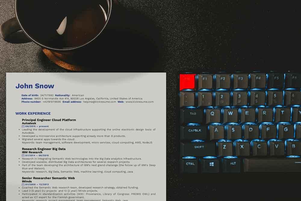 Quick guide: How to write a Software Developer CV