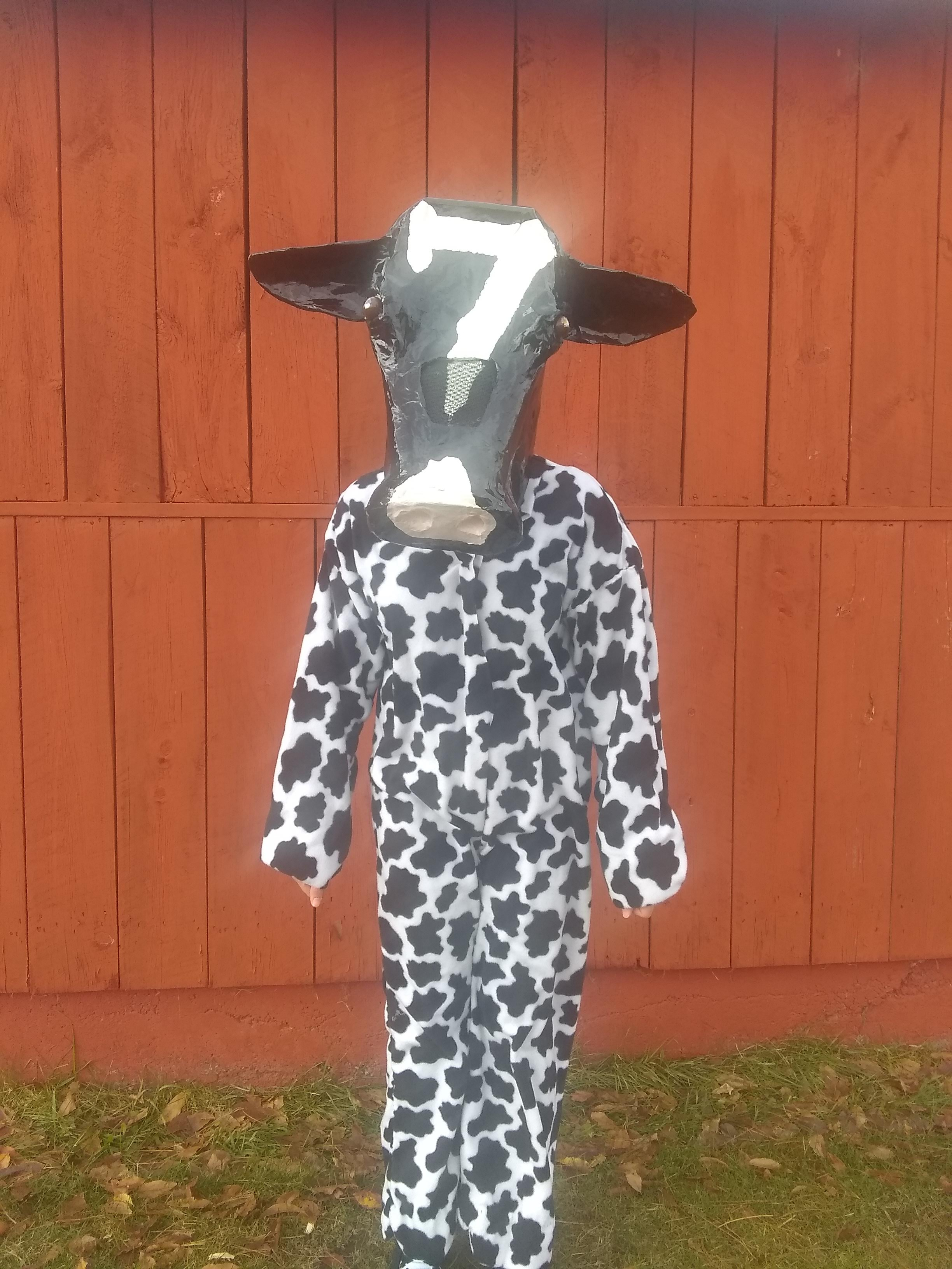 This is a replica of my cow that had a 7 on her forehead.
