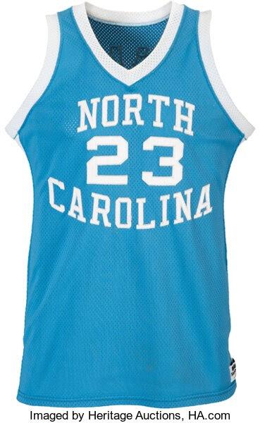 "Basketball Collectibles:Uniforms, 1982-83 Michael Jordan Game Worn University of North Carolina TarHeels Jersey from First ""NCAA Player of the Year"" Season-Pho..."