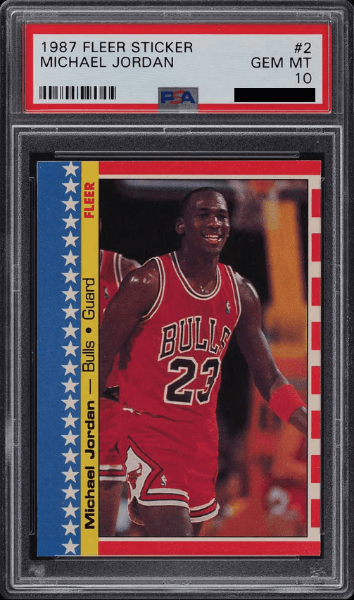 1987 Fleer Michael Jordan Sticker PSA 10