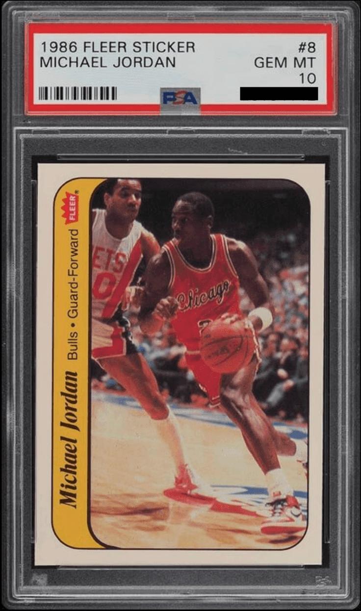1986 Fleer Michael Jordan Sticker PSA 10