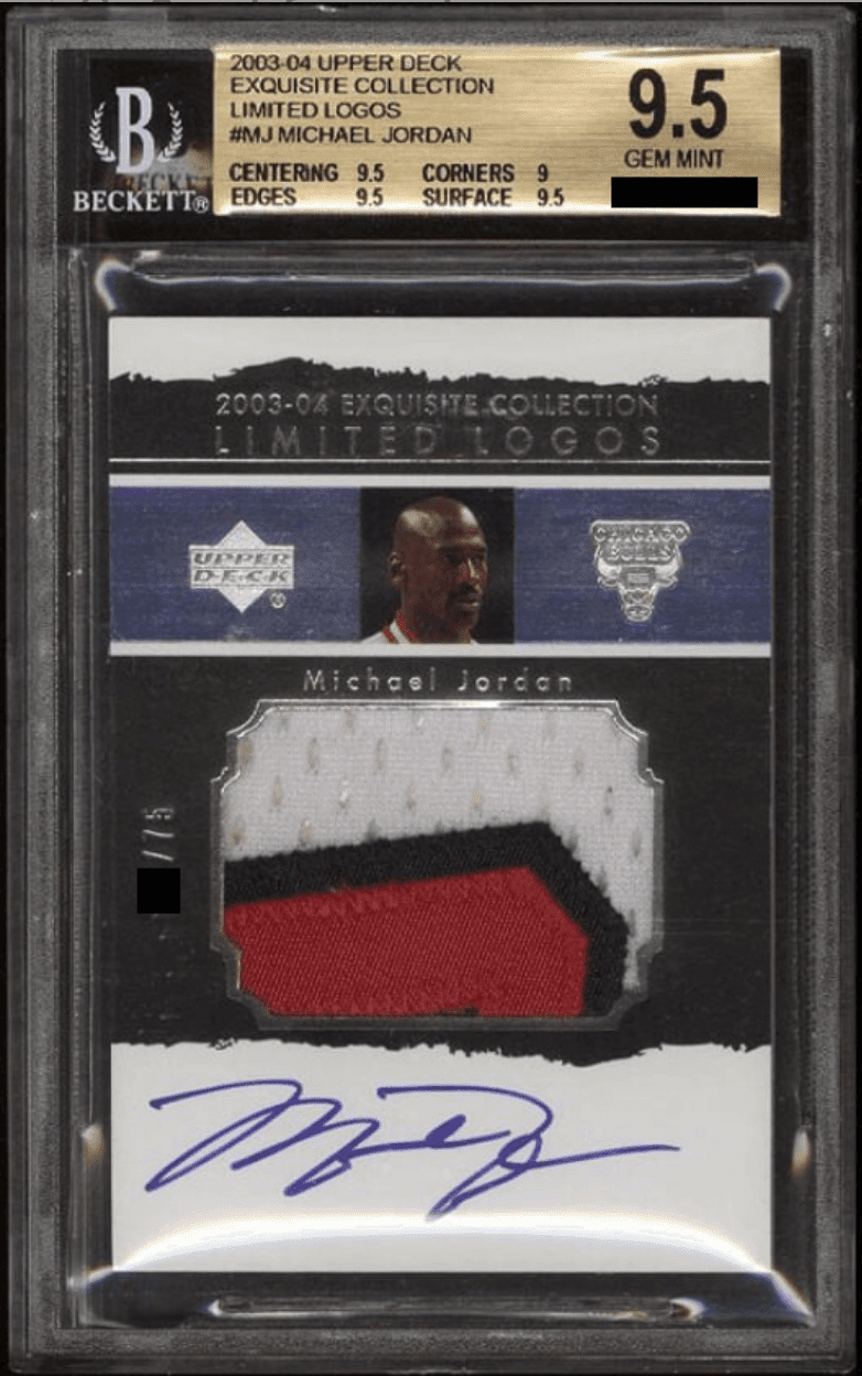 2003 Exquisite Collection Michael Jordan Limited Logos /75 BGS 9.5