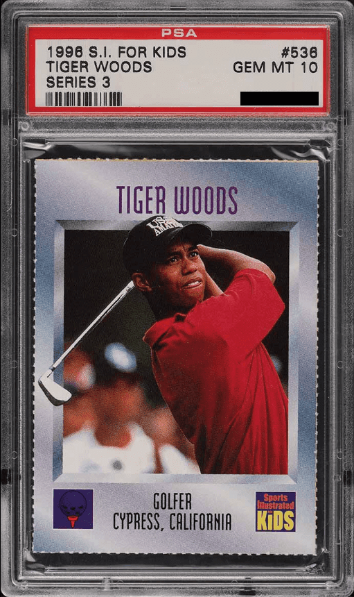 1996 Sports Illustrated (SI) For Kids Tiger Woods PSA 10