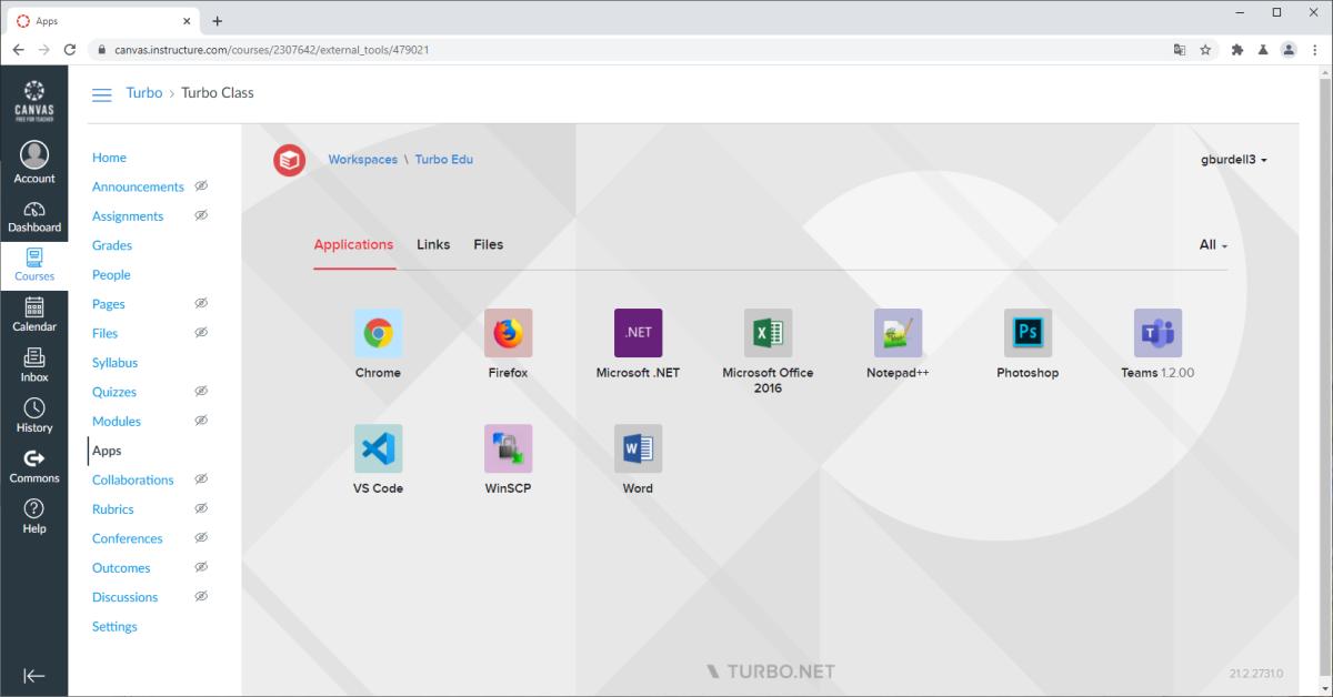 Turbo Server LTI integration
