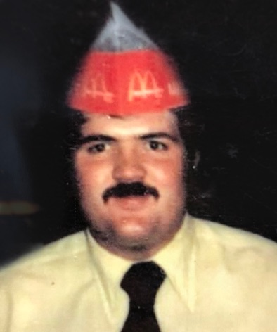 old photo of mike working at mcdonalds