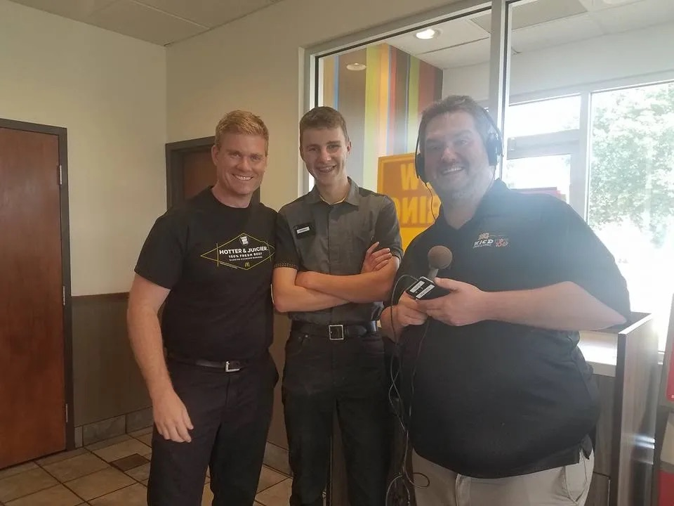 Radio host event at our Spencer, IA McDonalds