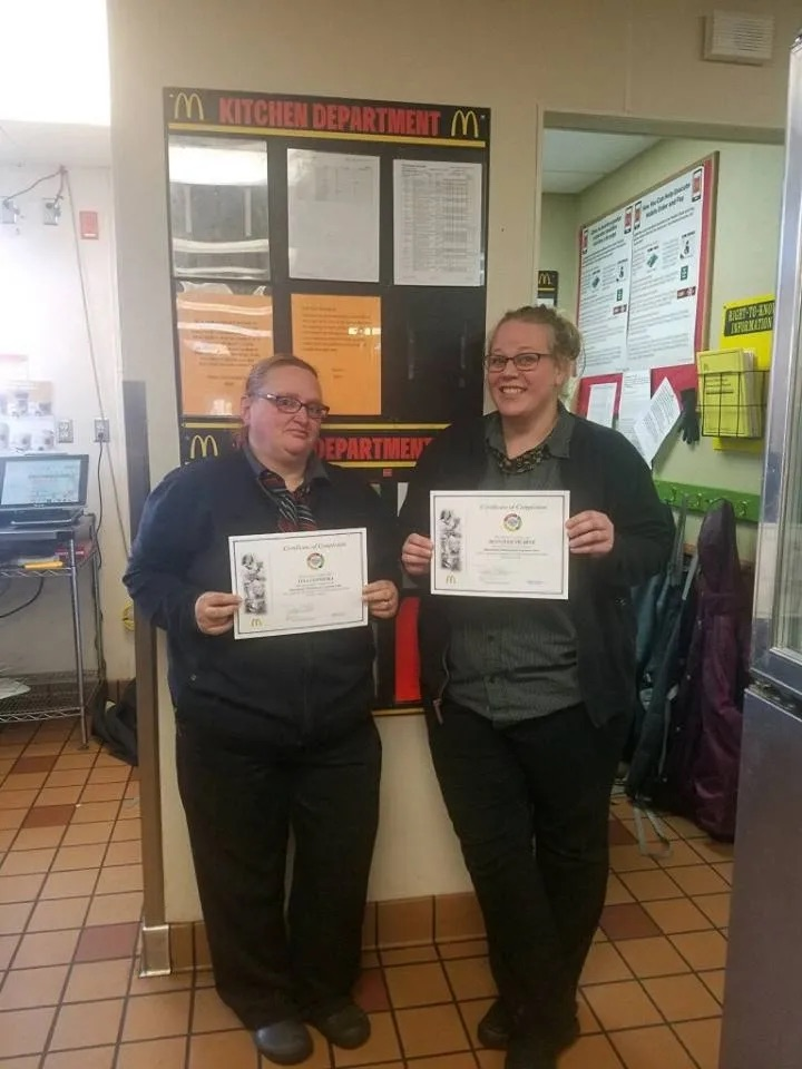 Two mangers from Sheldon, IA furthered their education in Restaurant Business Management