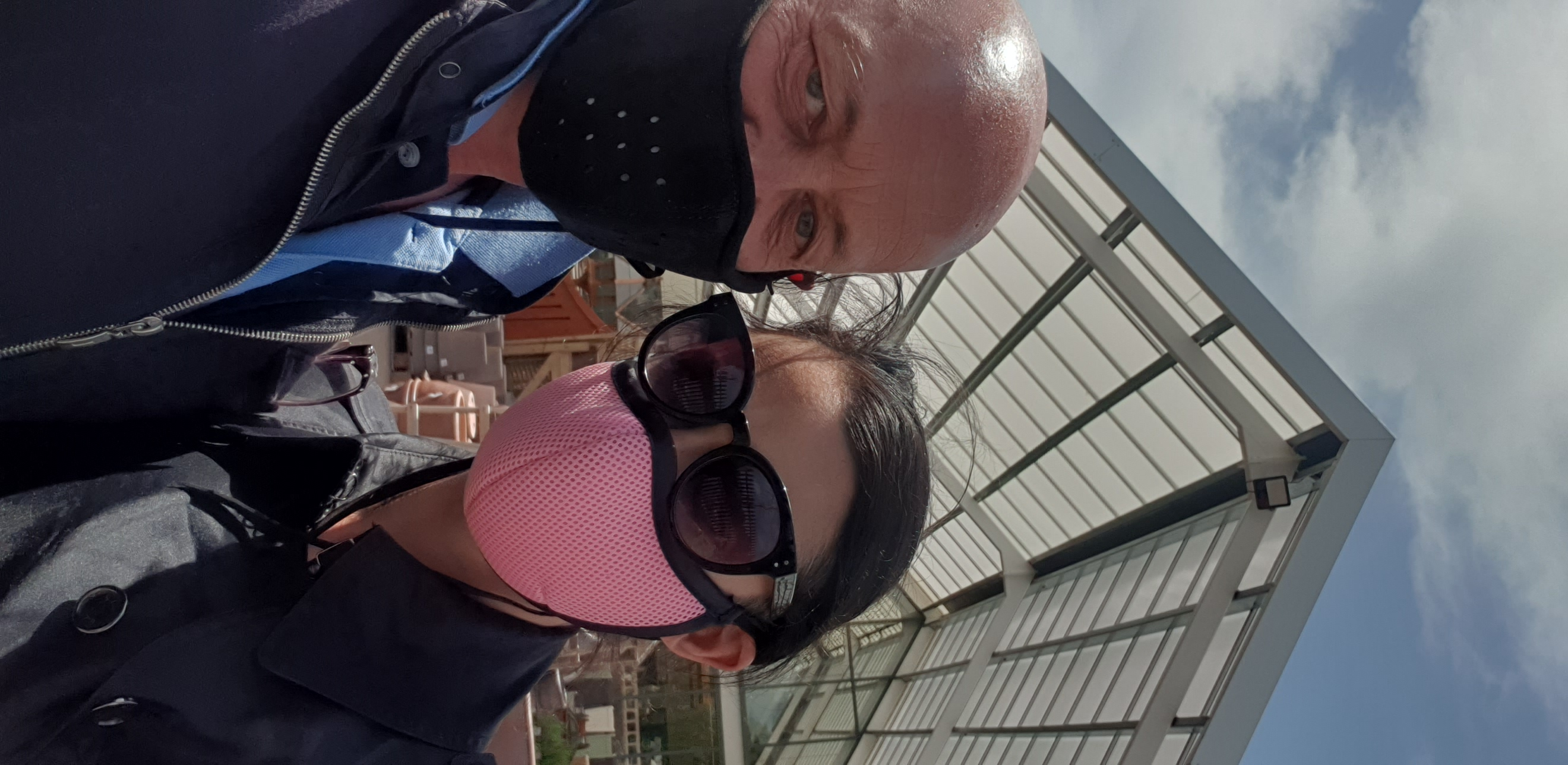 Martyn and Sarah at the garden centre