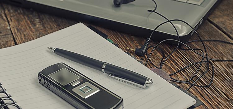 Media devices on desk