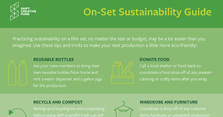 Filmmakers Guide to On-Set Sustainability
