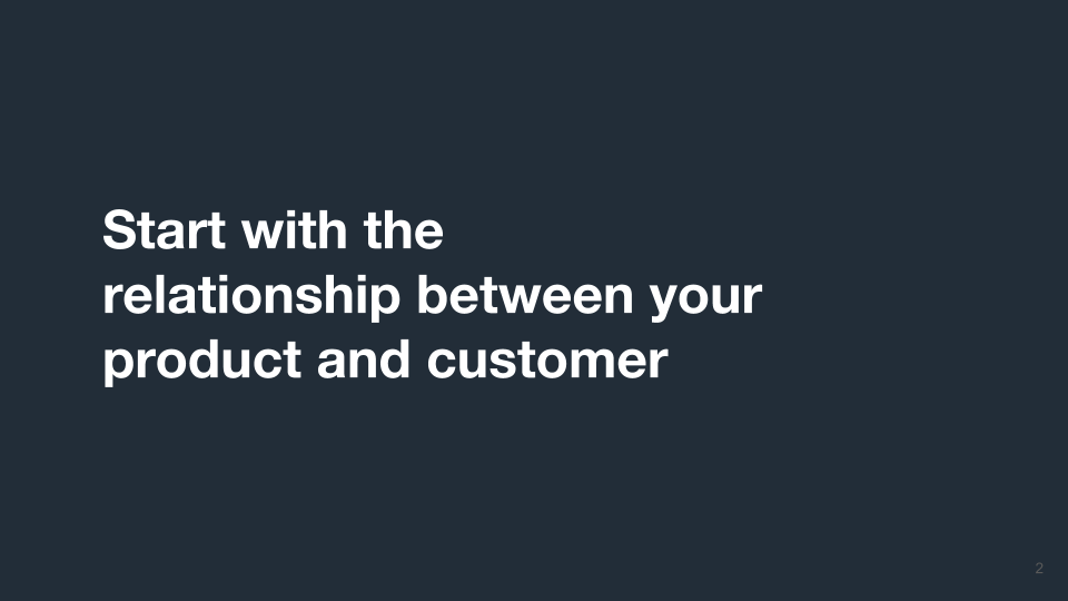 Start with Product and Customer