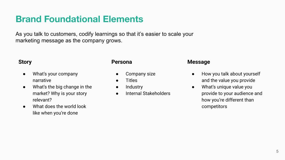 B2B Brand Foundational Elements