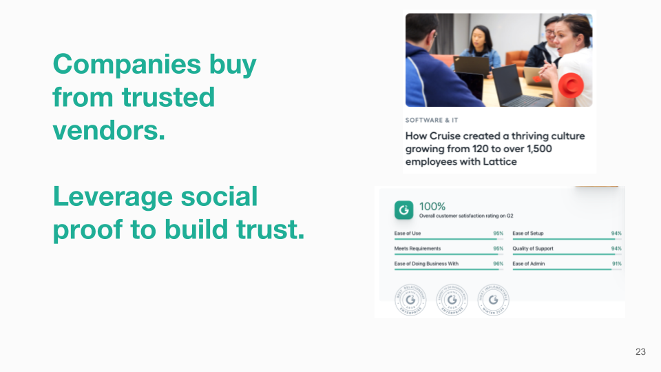 Companies buy from trusted vendors