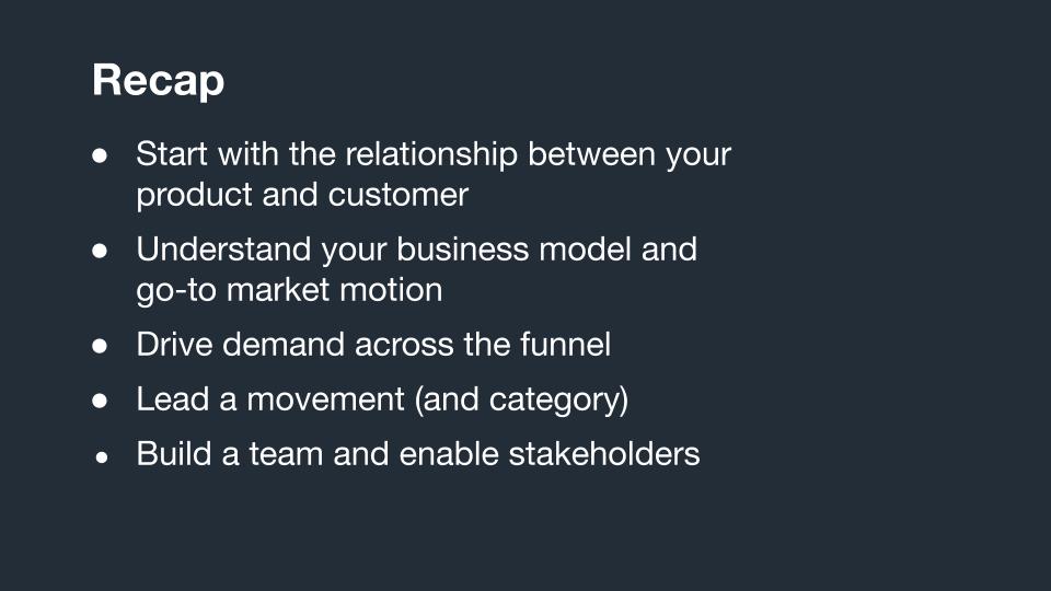 How to build a B2B Saa Marketing Program