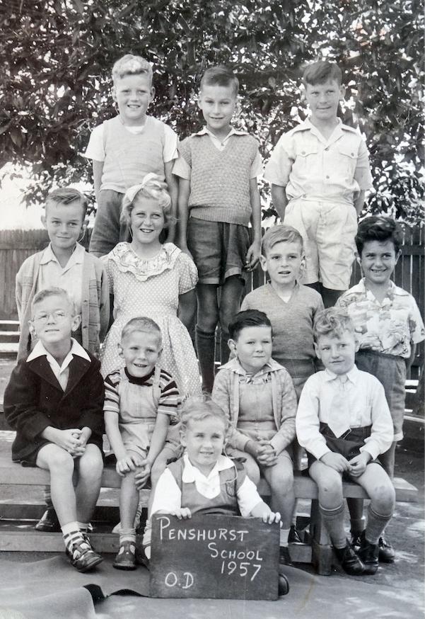 Opportunity Class, Penshurst Public School, NSW. Helen is in front holding board.