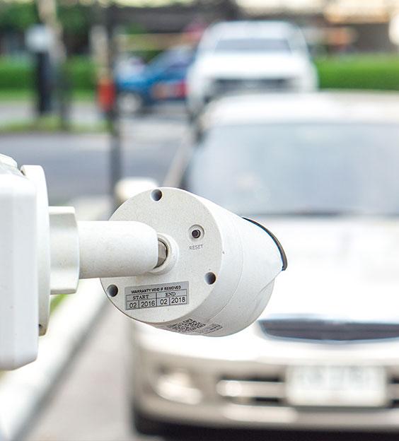 LPR camera identifying license plate
