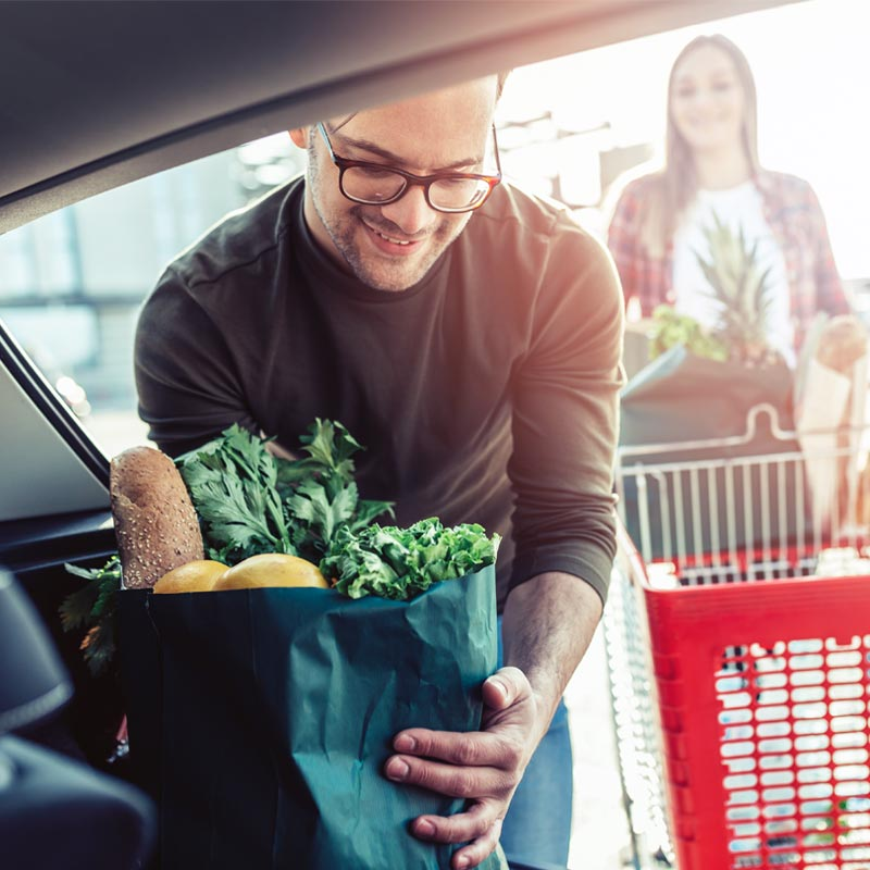Man delivering groceries