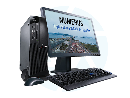 Computer screen showing Numerus software