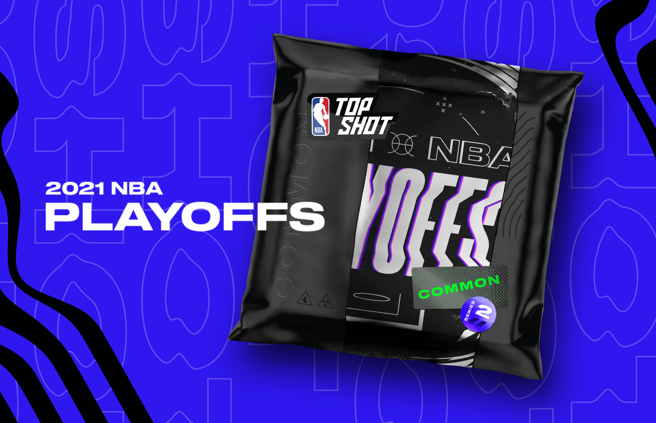 Each pack from the second release of the 2021 NBA Playoffs contains *two* guaranteed playoff Moments...