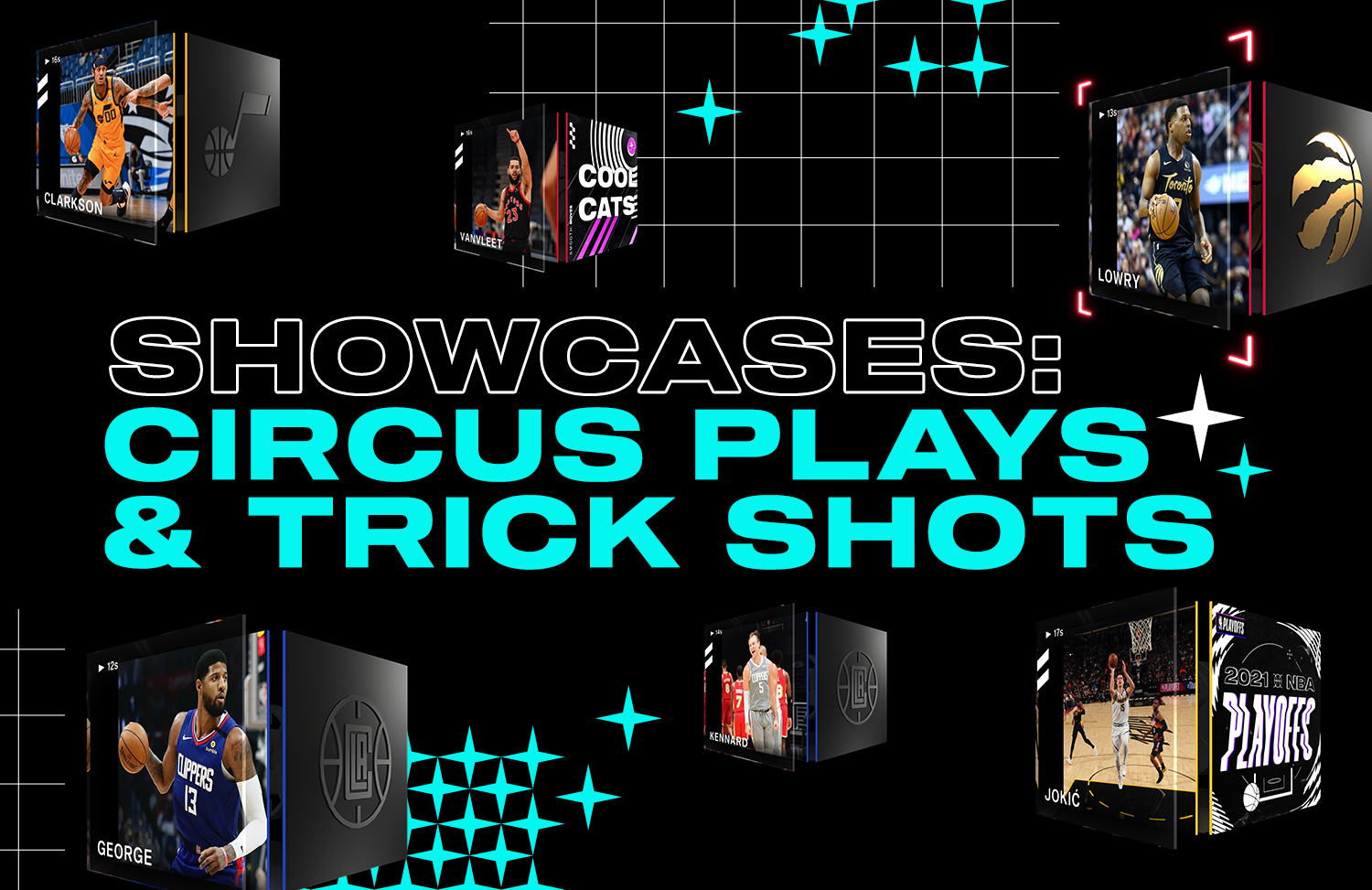 Re-living some of the top circus plays and trick shots from NBA Top Shot Moments
