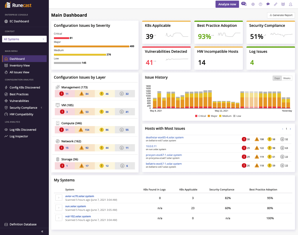 Runecast Analyzer - Connect to AWS