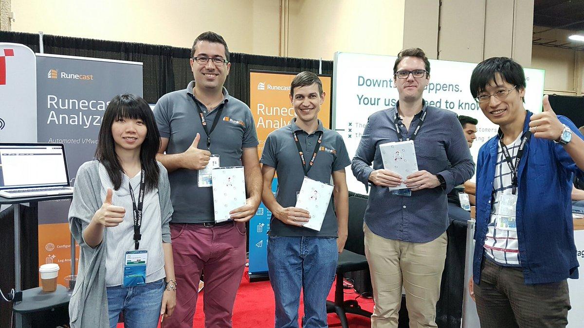 Runecast and FujiSoft team at VMworld 2018 US