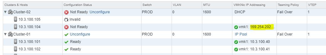 NSX dhcp fail