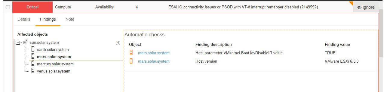 ESXi IO connectivity issues VMware