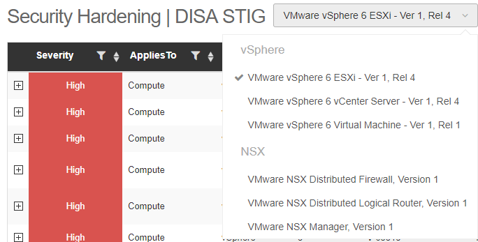 DISA-STIG NSX profile