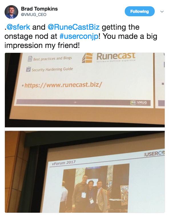 Runecast at VMUG JP