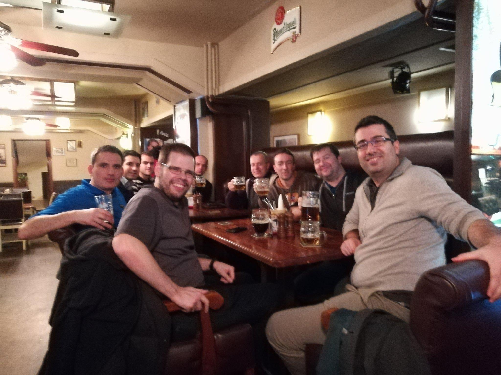 Left to right: David Pasek (VMware), Michal Hrnčiřík (Runecast), Ivaylo Ivanov (Runecast), Manfred Hofer (VMware), Nikita Palchikov (Runecast), Andrea Mauro (vinfrastructure.it), Paolo Valsecchi (nolabnoparty.com), Karel Novak (Czech VMUG Leader), Stanimir Markov (Runecast).