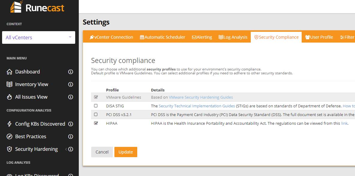 Security Compliance Screenshot