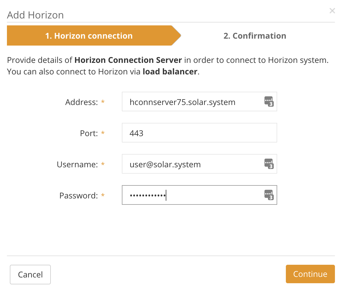 Horizon connection
