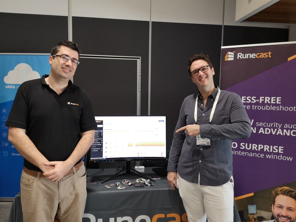 Stanimir Markov and Ched Smokovic at Runecast stand