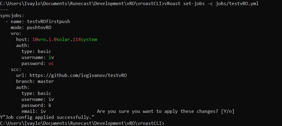 vRoast set-jobs -c