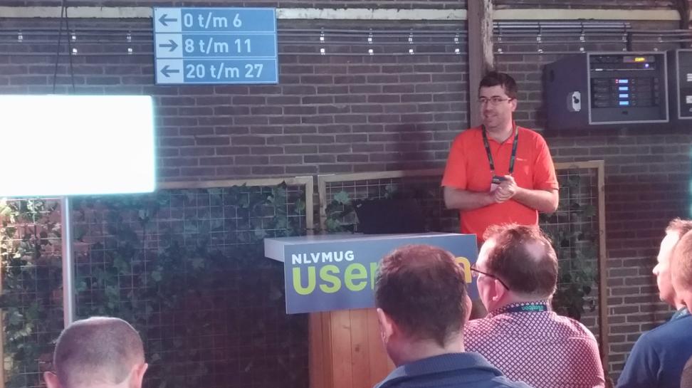 Stanimir Markov presenting in NLVMUG UserCon 2019